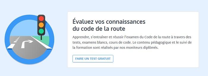 évaluation au code de la route